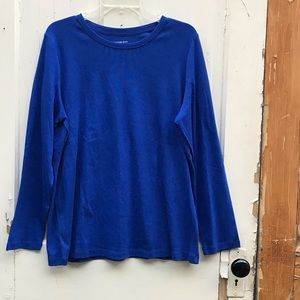 Lands' End blue shaped long sleeve tee Size 1X